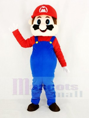 Super Mario Bros in Red Mascot Costume Cartoon
