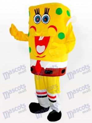 Yellow Spongebob Boy Adult Mascot Costume