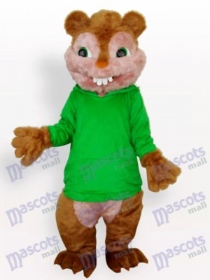 Green Squirrel Animal Adult Mascot Costume