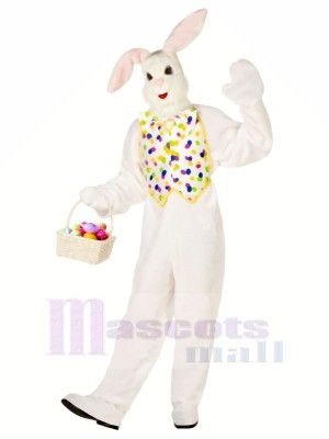 White Easter Bunny Adult Mascot Costumes Animal