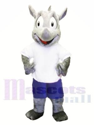 Sport Mascot Costume Robert Rhino Mascot Costume for Adult