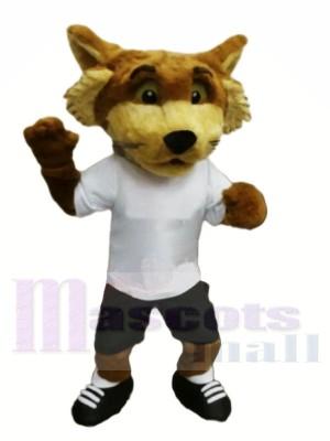 Fox with White T-shirt Mascot Costumes Animal