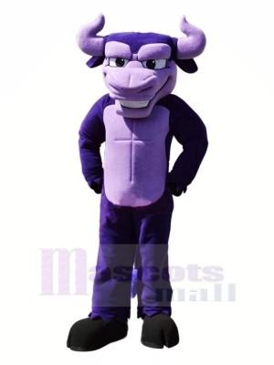 Power Purple Bull Mascot Costumes Cartoon