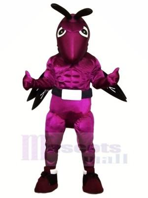 Power Purple Hornet Mascot Costumes Cartoon