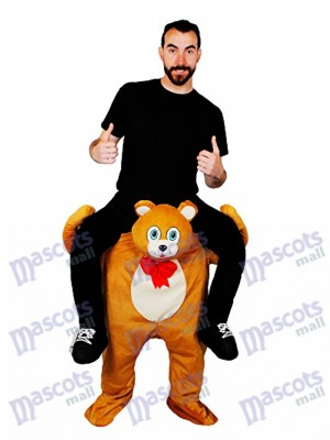 Piggyback Teddy Bear Carry Me Ride Brown Bear Mascot Costume