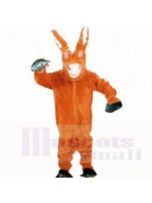 Friendly Donkey Mascot Costumes Cartoon