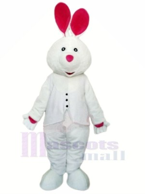 White Rabbit with Long Ear Mascot Costumes Animal