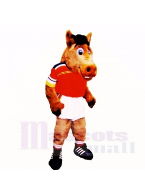 Sport Lightweight Horse with Red Shirt Mascot Costumes School