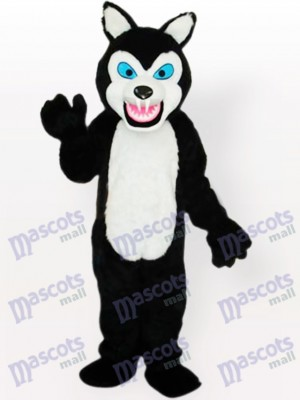 Little Black Wolf Adult Mascot Costume Tpye A Updated