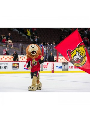 Spartacat Lion of the Ottawa Senators Mascot Costume Animal