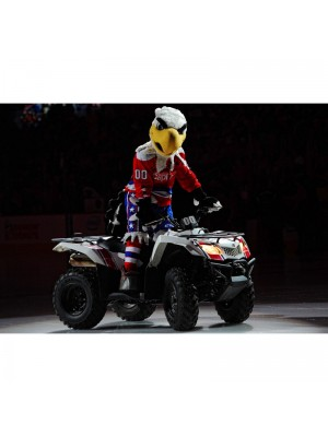 Slapshot of the Washington Capitals Bald Eagle Mascot Costume Animal
