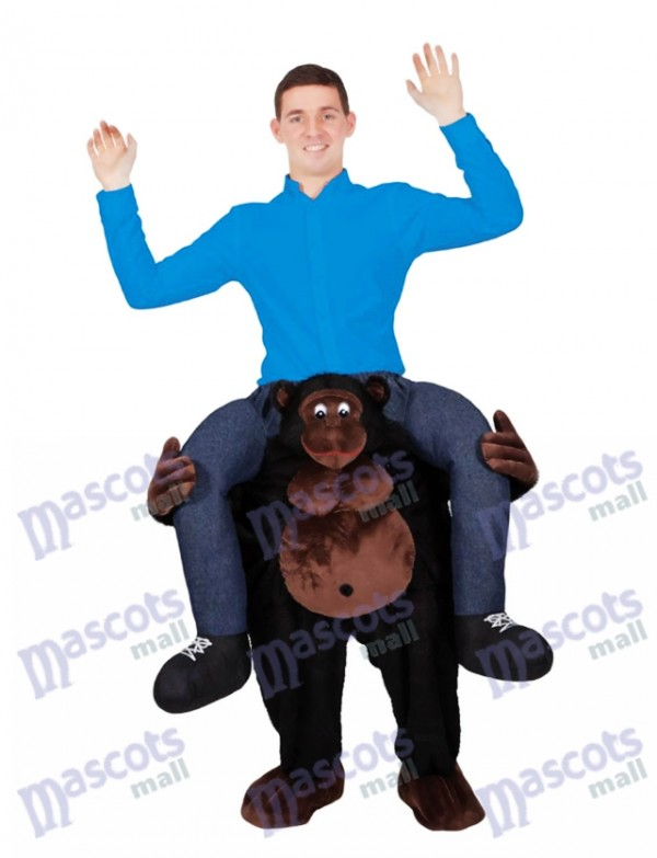 Riding on Shoulder Gorilla Carry Me on Mascot Costume Piggy Back Ride Outfit