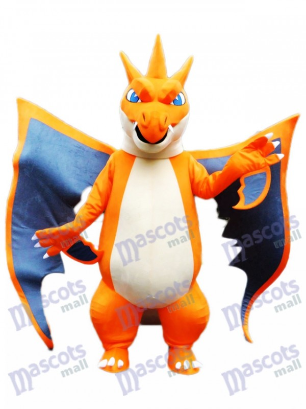 Mega Charizard X Pocket Monster Pokemon Pokémon Firedragon Go Mascot Costume