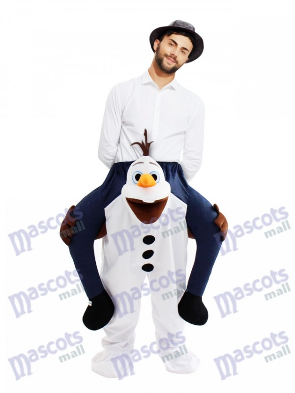 Piggyback Frozen Olaf Carry Me Ride Snowman Mascot Costume