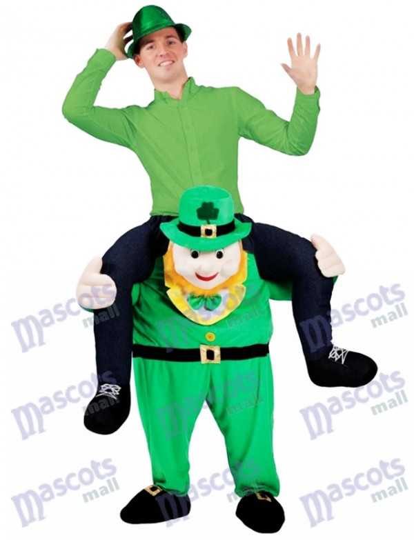 Piggy Back Costume Irish Carry Me Leprechaun Mascot Costume St Patricks Day Fancy Dress