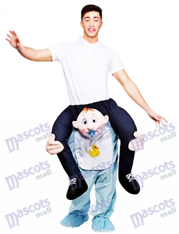 Baby Carry Me Ride Piggy Back Carry Me Mascot Costume Ride On Funny Fancy Dress