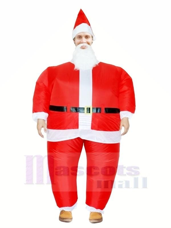 Santa Claus Inflatable Halloween Christmas Xmas Mascot Costumes Cartoon For Adults