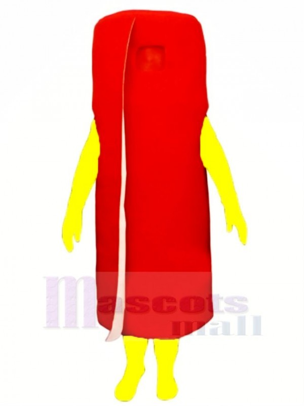 Funny Rolled Red Carpet Mascot Costume Cartoon