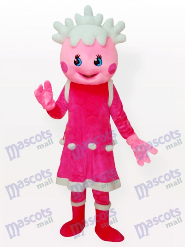 Snow Pink Adult Anime Mascot Costume
