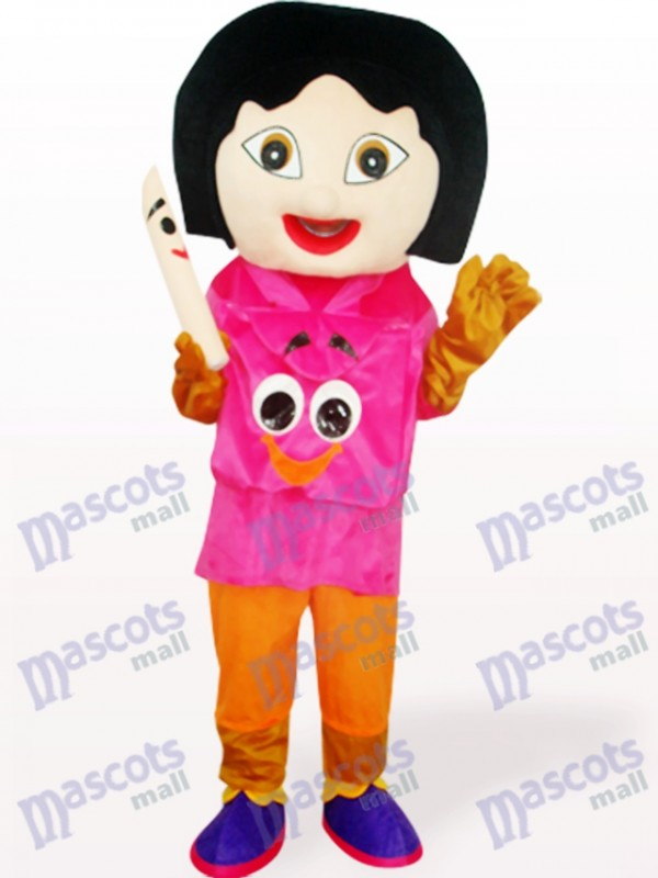 Dora With Rose Mouth Anime Adult Mascot Costume