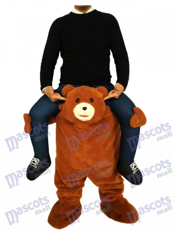 Piggyback Brown Bear Carry Me Ride on Teddy Bear Mascot Costume