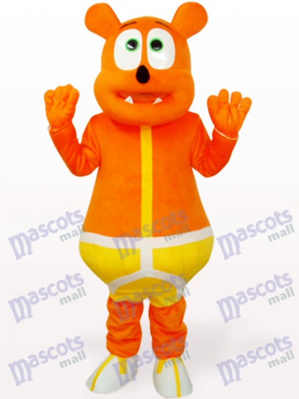 Yellow Bear Monster Animal Mascot Costume