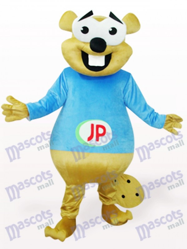Blue Bear With Big Teeth Animal Mascot Costume