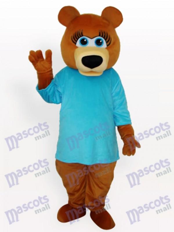 Blue Bear Animal Mascot Costume