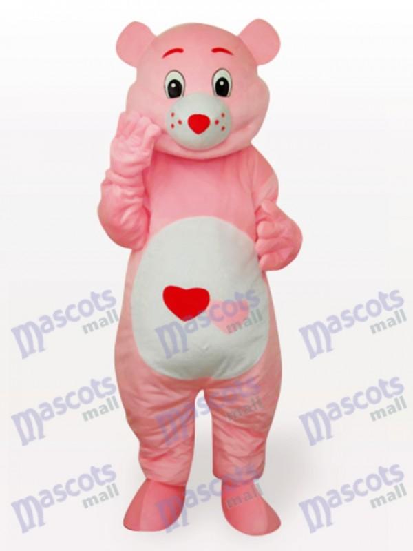 Red Heart Bear Anime Mascot Funny Costume