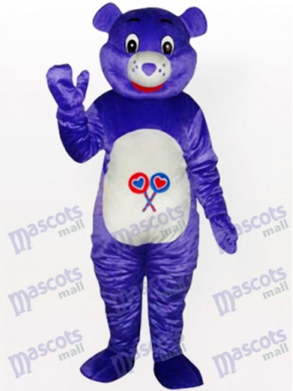 Purple Bear Animal Mascot Costume