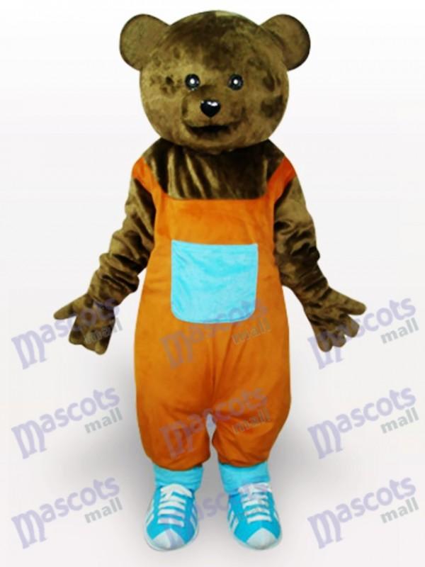 Brown Teddy Adult Mascot Costume