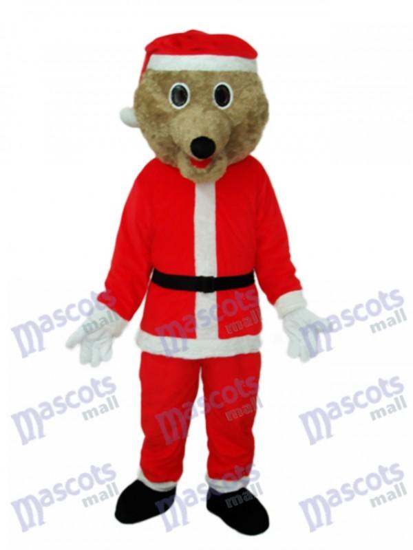 Christmas Bear Mascot Adult Costume