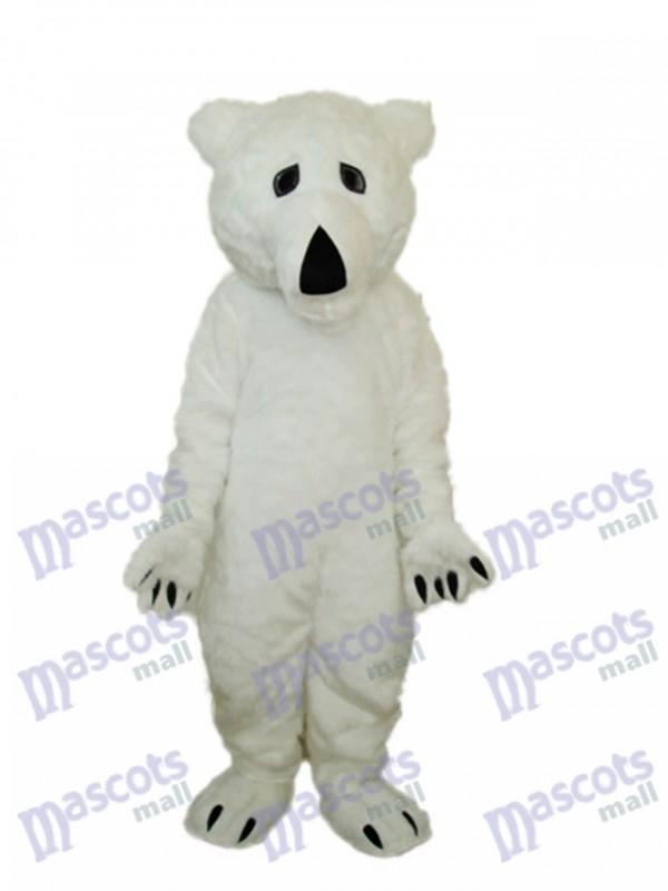 Long Wool Polar Bear Mascot Adult Costume