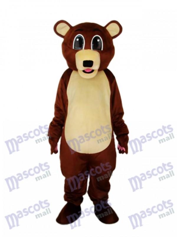 Big Eyes Brown Bear Mascot Adult Costume