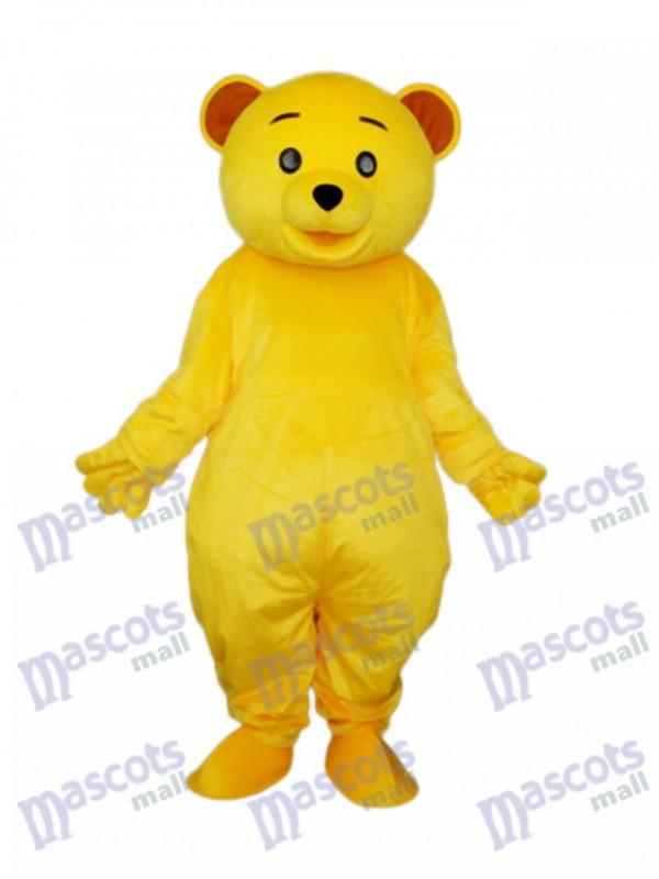 Yellow Teddy Bear Mascot Adult Costume