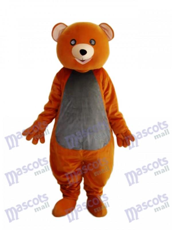 Brown Teddy Bear Mascot Adult Costume