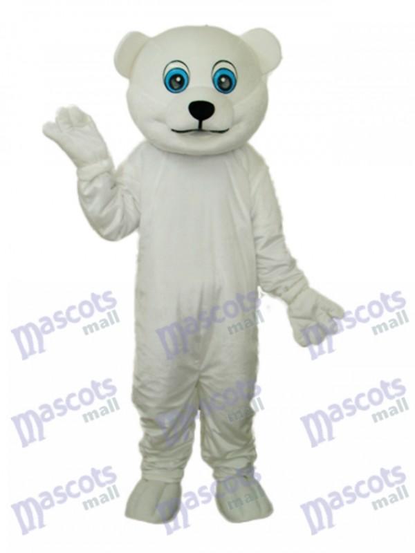 Little Polar Bear Mascot Adult Costume