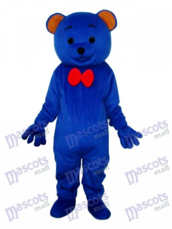 Blue Teddy Bear Mascot Adult Costume