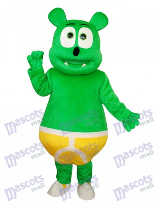 Green Bear Mascot Adult Costume