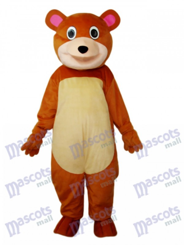 Round Mouth Bear Mascot Adult Costume