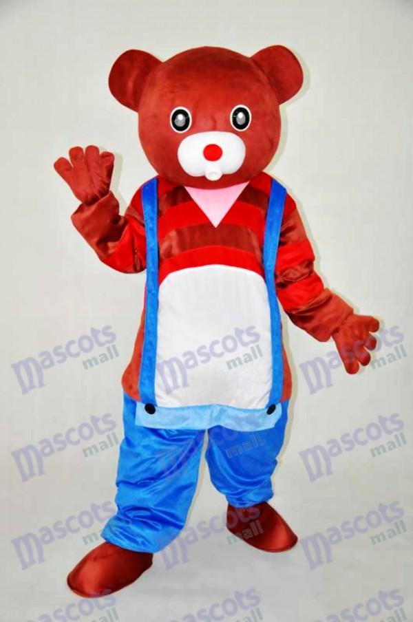 Brown Bear Teddy Bear Mascot Adult Costume