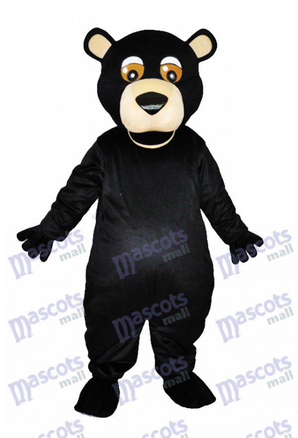 Round Mouth Black Bear Adult Mascot Costumes