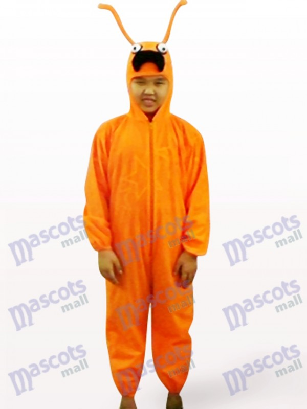 Orange Ant Open Face Kids Insect Mascot Costume
