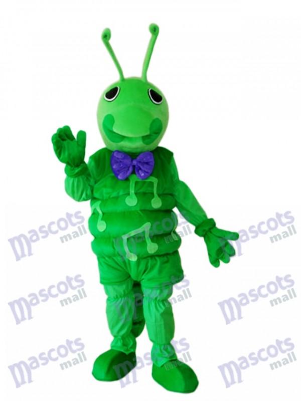 Green Worm Mascot Adult Costume