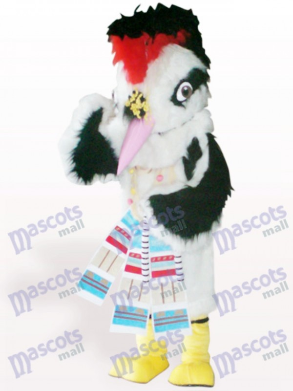 White Hair Bird Animal Adult Mascot Costume