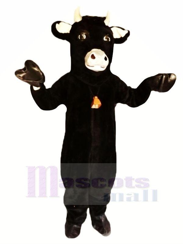 Black Furry Bull Mascot Costumes Animal