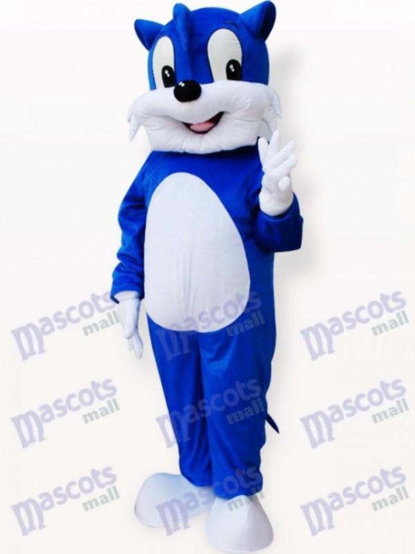 Blue Cat Animal Adult Mascot Costume