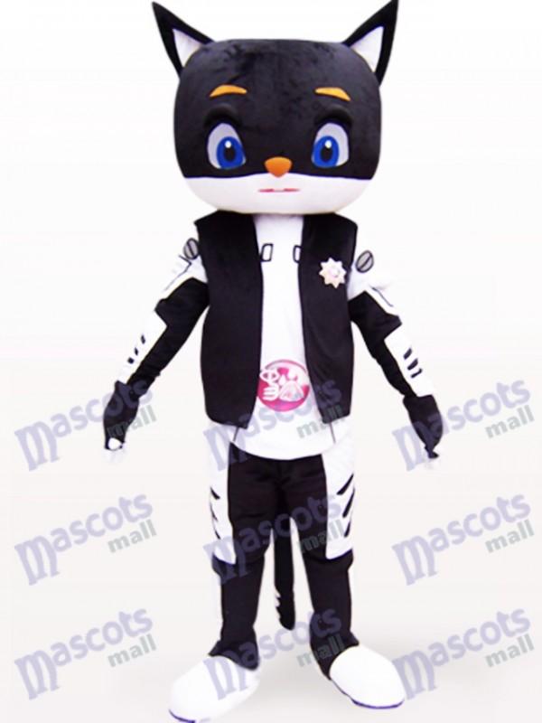 Sir Black Cat Animal Adult Mascot Costume