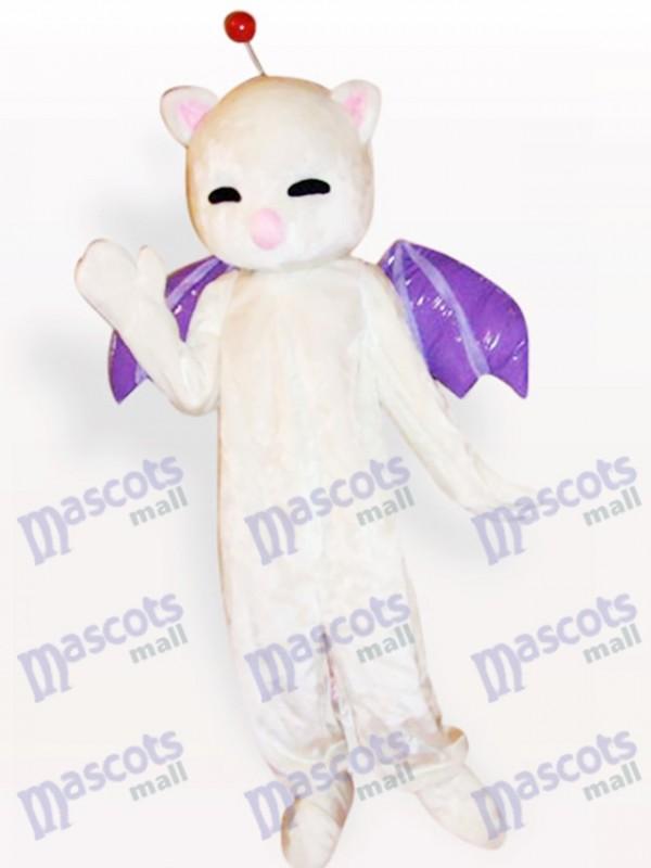Pink Nose White Cat Animal Adult Mascot Costume