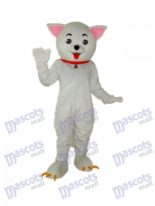 Pink Ear Clever Cat Mascot Adult Costume